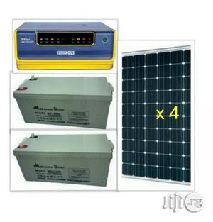 1kva Hybrid Inverter With 4 Solar Panels | Solar Energy for sale in Lagos State, Maryland