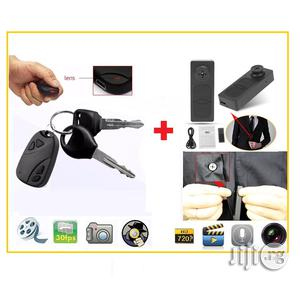 Spy Button/ Car Key Video Recorder   Security & Surveillance for sale in Lagos State, Ikeja