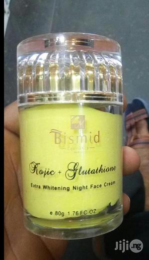 Bismid Extra Whitening Night Face Cream Kojic + Glutathione 80g | Bath & Body for sale in Lagos State, Kosofe