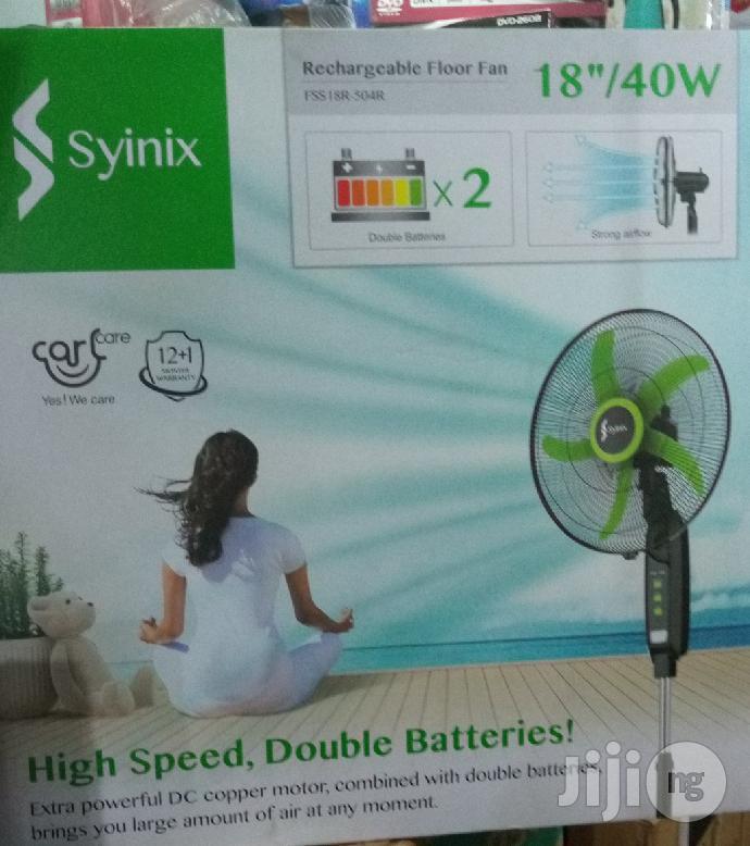 """Syinix 18"""" Recheargeable Fan"""