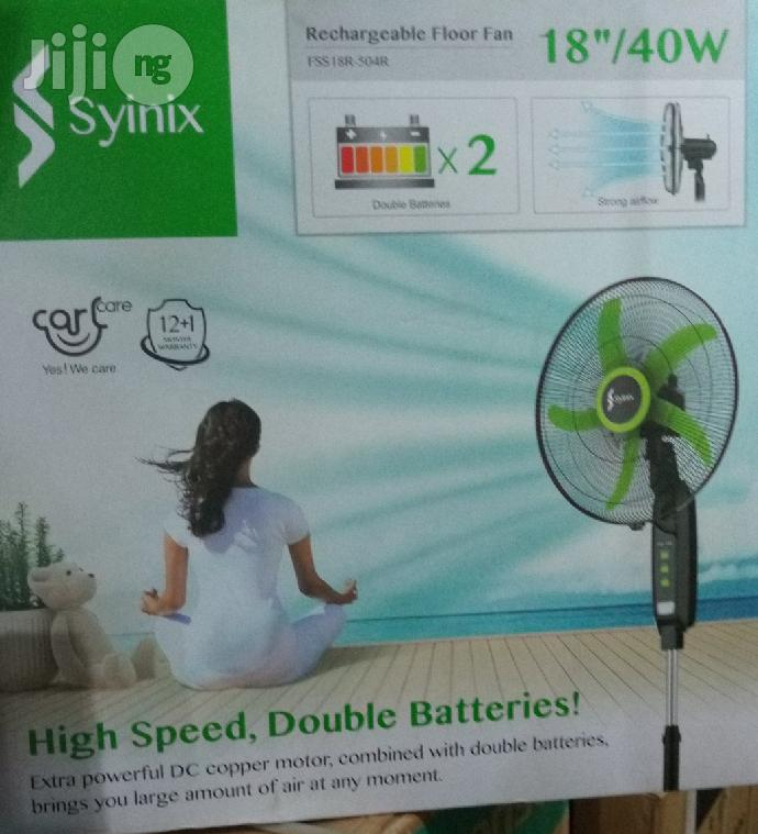 """Syinix 18"""" Recheargeable Fan 
