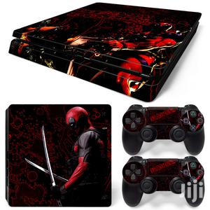 Deadpool Sticker PS4 Slim Skin Console 2 Controller | Accessories & Supplies for Electronics for sale in Lagos State, Ifako-Ijaiye