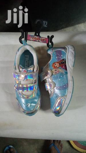 Blue Frozen Canvas Sneakers for Girls   Children's Shoes for sale in Lagos State, Lagos Island (Eko)
