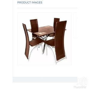 Imported High Quality Square Glass Dining With Chairs   Furniture for sale in Lagos State, Ojo