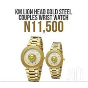 Keep Moving Gold Platted Chain Couple Wristwatch With Case | Watches for sale in Lagos State, Ikeja