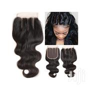 4*4 Three-part Body Wave Lace Closure Hair | Hair Beauty for sale in Lagos State, Victoria Island