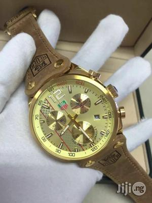 Tag Heuer Chronograph Leather Wristwatch   Watches for sale in Lagos State, Oshodi
