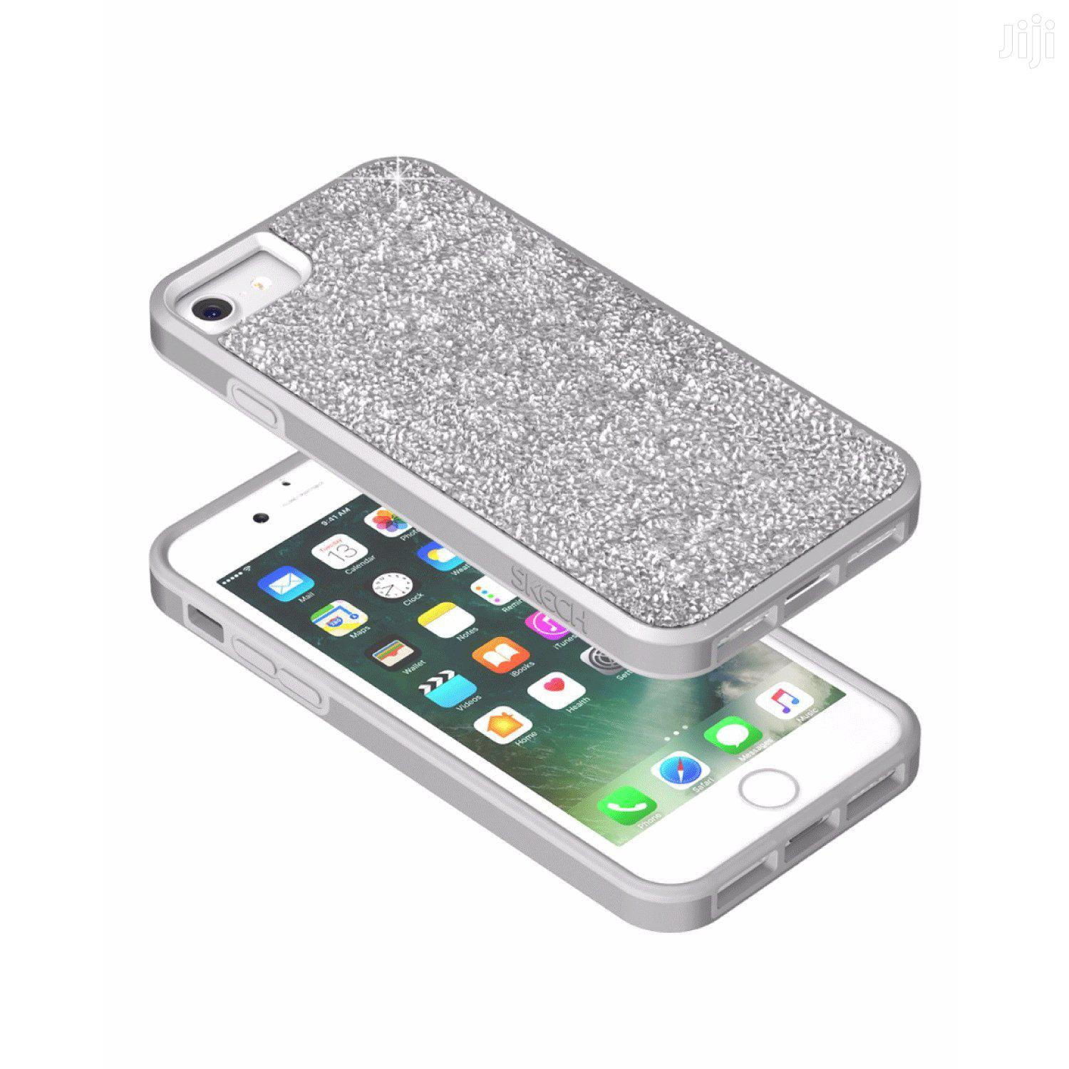 Skech Jewel Protective Cover for iPhone 7 (6/6s Compatible) - Silver | Accessories for Mobile Phones & Tablets for sale in Ikeja, Lagos State, Nigeria