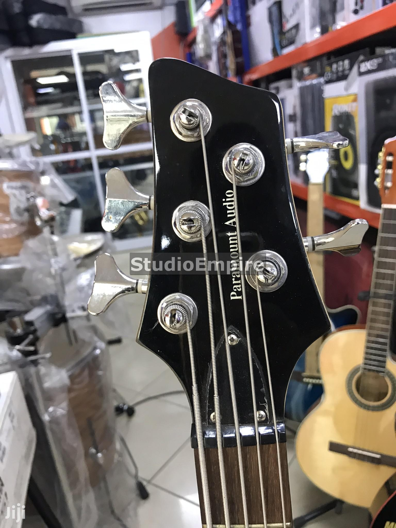 Paramount Professional 5-String Bass Guitar With Bag Belt - Redburst   Musical Instruments & Gear for sale in Lagos State, Nigeria