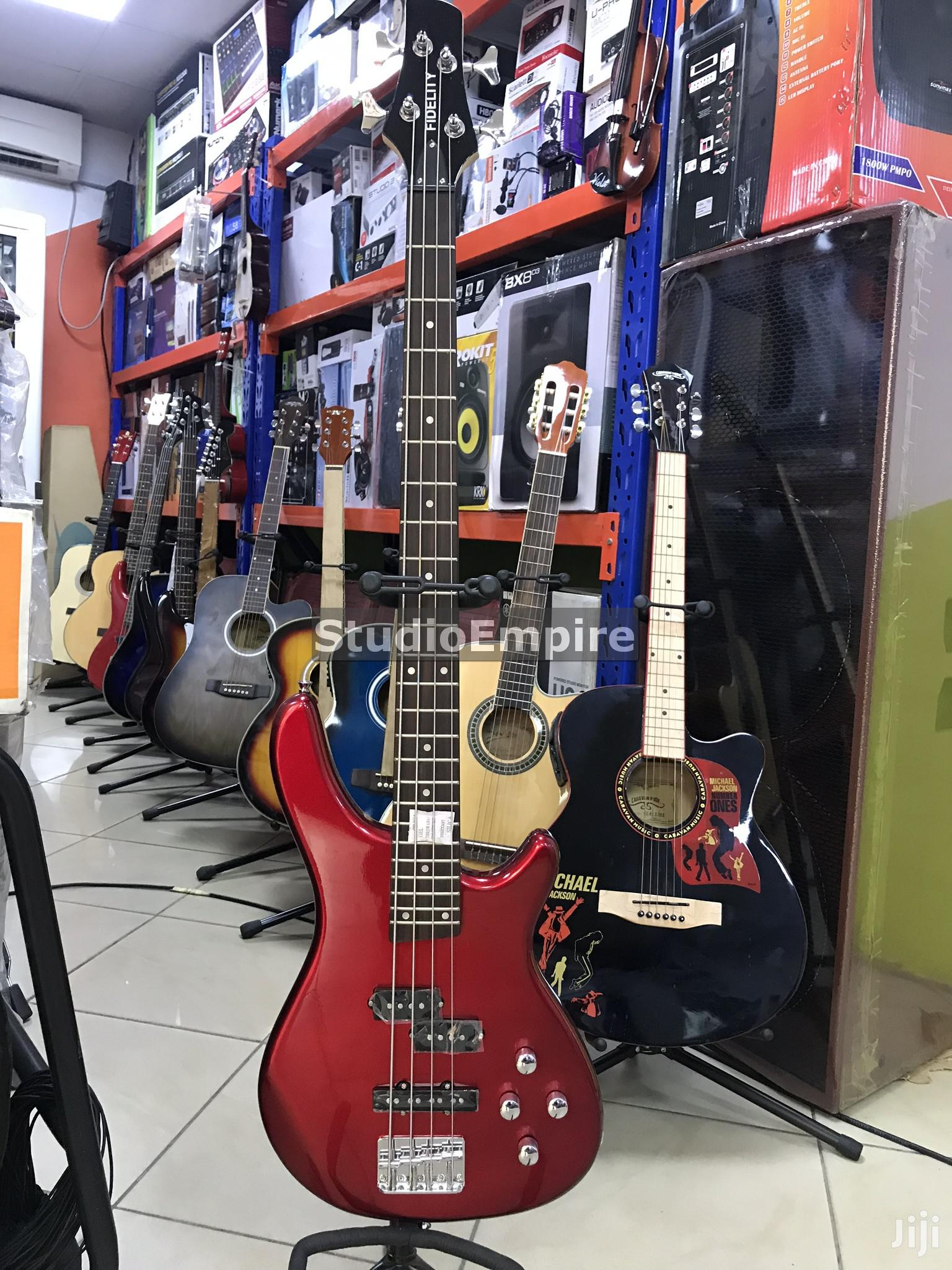 Archive Fidelity Professional 4 String Bass Guitar With 24 Frets Vintage Red In Lagos State Musical Instruments Gear Studio Empire Jiji Ng
