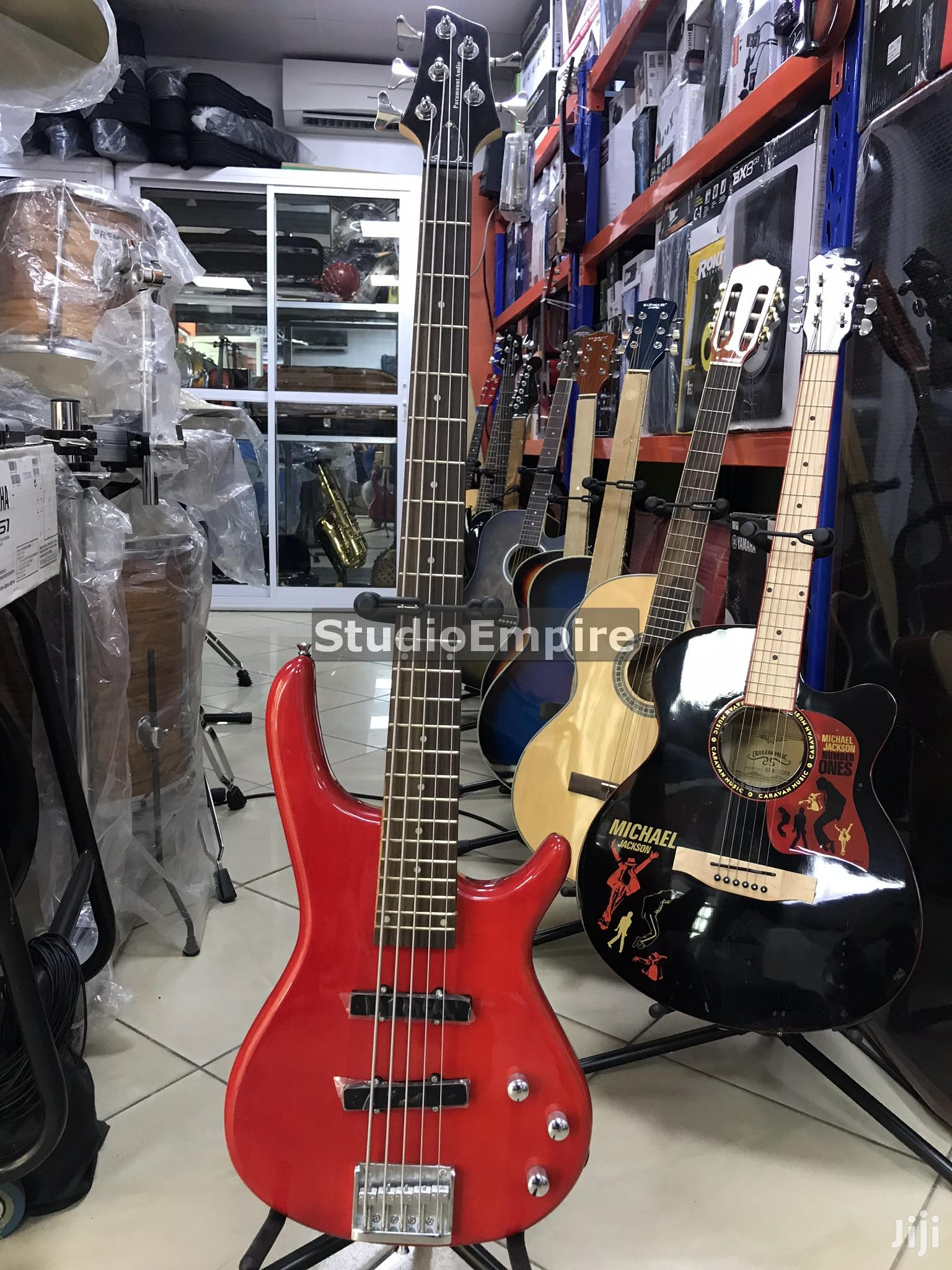 Archive Paramount Professional 5 String Bass Guitar With Bag Belt Red In Lagos State Musical Instruments Gear Studio Empire Jiji Ng