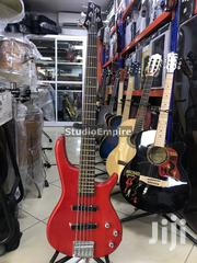 Paramount Professional 5-String Bass Guitar With Bag Belt - Red | Musical Instruments & Gear for sale in Lagos State