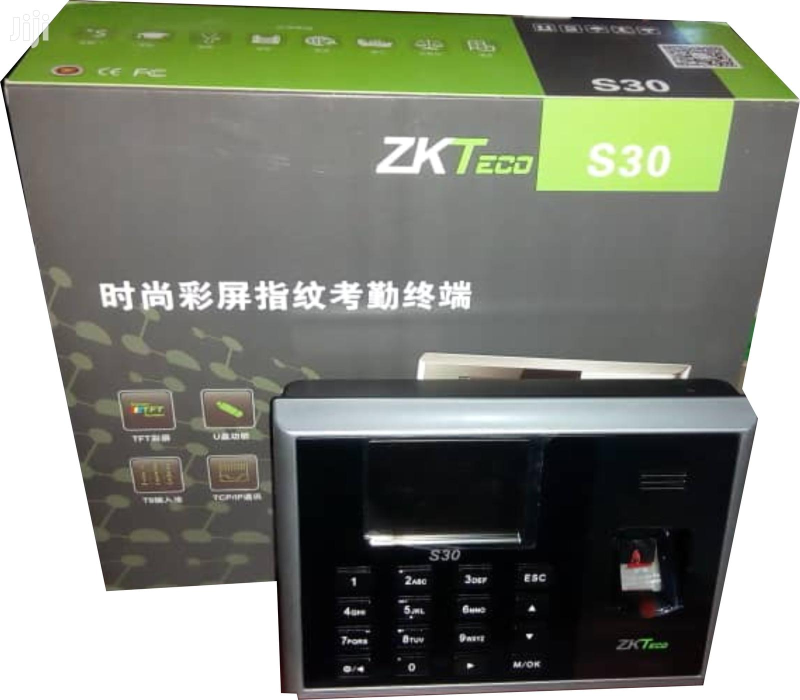 Zkteco S30 IP Time Attendance Machine - 3200 Fingerprint Templates | Safety Equipment for sale in Ikeja, Lagos State, Nigeria
