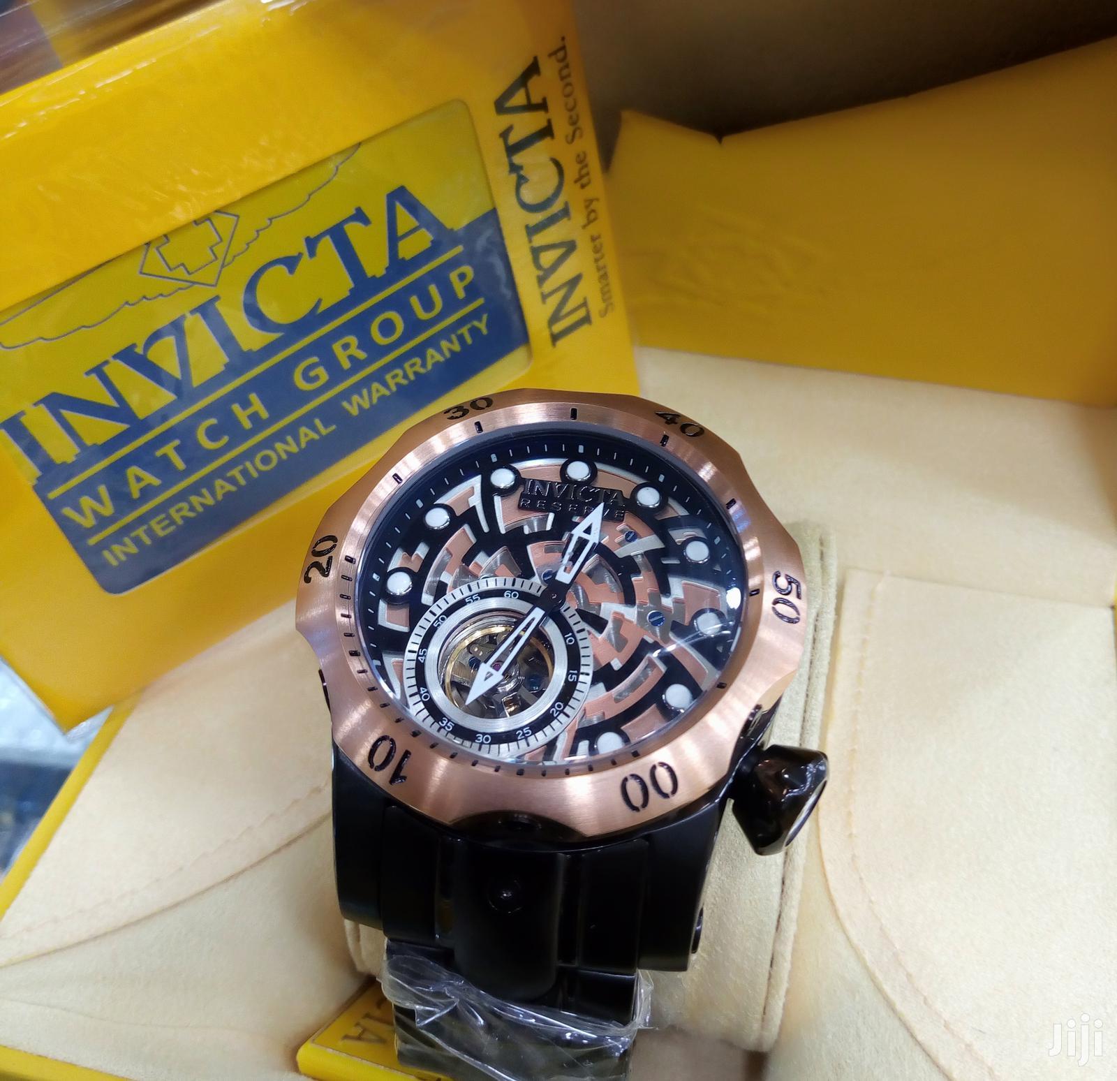 Invicta Chronograph Rose Gold Black Chain Watch In Lagos Island Eko Watches Okrash G Ventures Jiji Ng