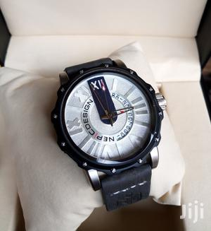 Nepic Design Black/Silver Leather Strap Watch | Watches for sale in Lagos State, Lagos Island (Eko)