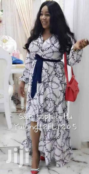 New Quality Silky Elegant Long Sleeve Dress | Clothing for sale in Lagos State, Ikeja