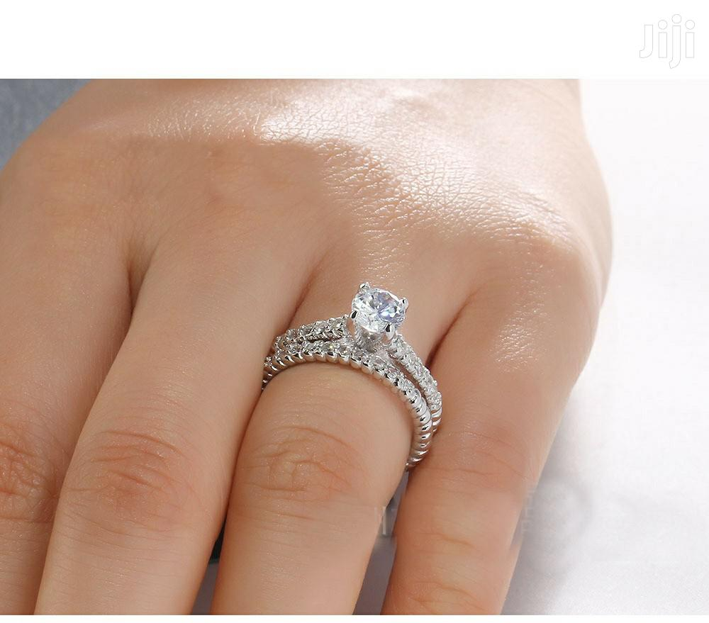 Beautiful and Trendy 925 Sterling Silver 2-1 Wedding Rings