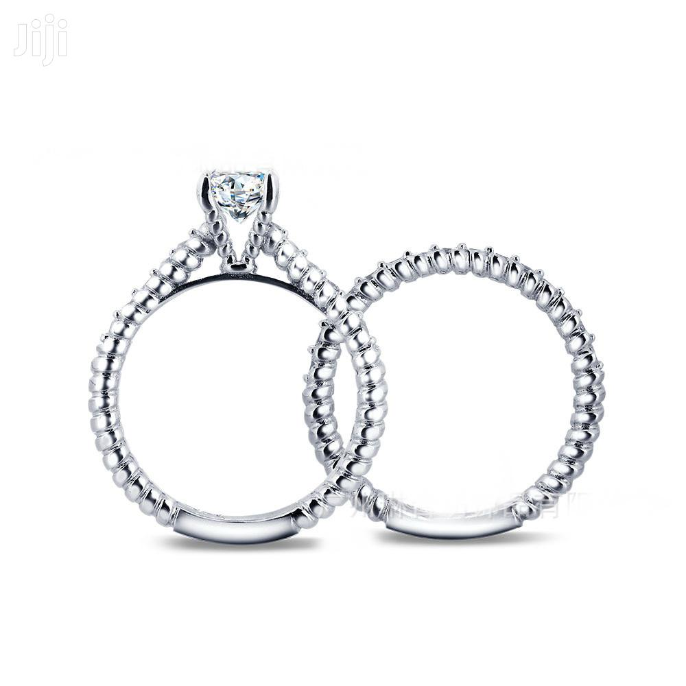 Beautiful and Trendy 925 Sterling Silver 2-1 Wedding Rings | Wedding Wear & Accessories for sale in Ojodu, Lagos State, Nigeria