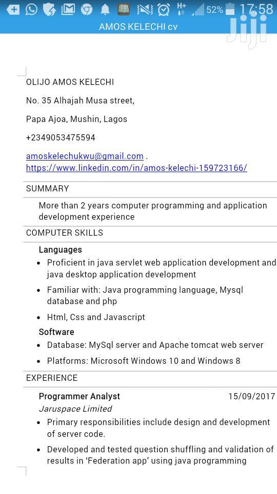 Web Developers | Computing & IT CVs for sale in Mushin, Lagos State, Nigeria