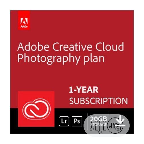 Adobe Photography Plan With 20GB Storage | 1 Year