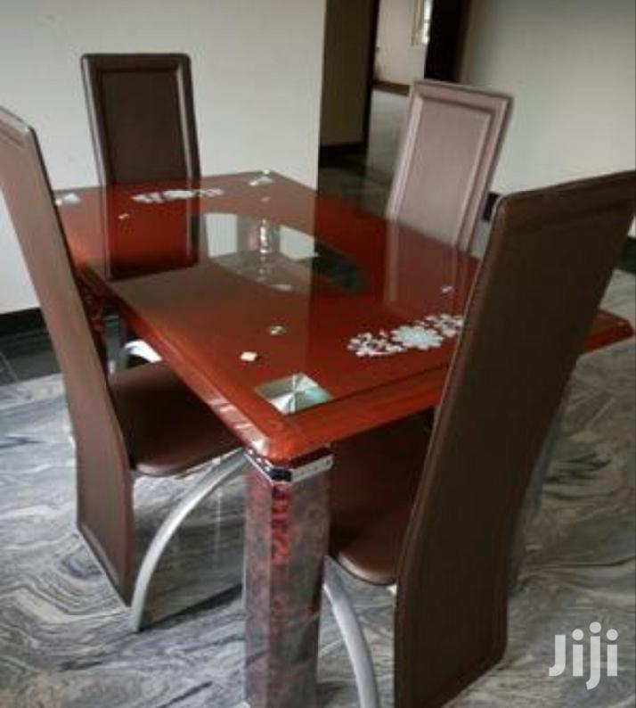Top Quality 4 Seater Glass Dining Table In Ikeja Furniture Roland Furniture And Interior Jiji Ng