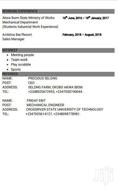 Human Resoruces Manager | Human Resources CVs for sale in Uyo, Akwa Ibom State, Nigeria