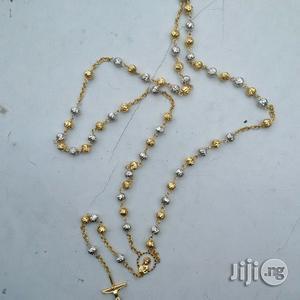 Original ITALY 750 Pure 18krat Gold Chaplet Long Design   Jewelry for sale in Lagos State, Lagos Island (Eko)