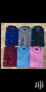 Original Ralph Lauren Tiny Checkers Packet Shirt | Clothing for sale in Lagos State, Surulere