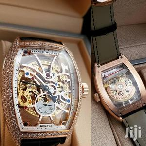 Franck Muller Skeleton Ice Head Rose Gold Leather Strap Watch   Watches for sale in Lagos State, Lagos Island (Eko)