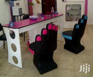Nail Polish Chair And Table | Salon Equipment for sale in Lagos State, Lagos Island (Eko)