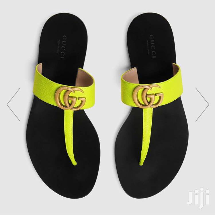Gucci Female Leather Thong Slippers