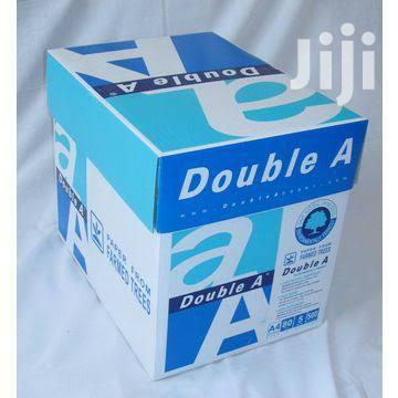 Double A A4 Paper - 1 Carton Of 5 Reams, 75gms Paper | Stationery for sale in Lagos Island (Eko), Lagos State, Nigeria
