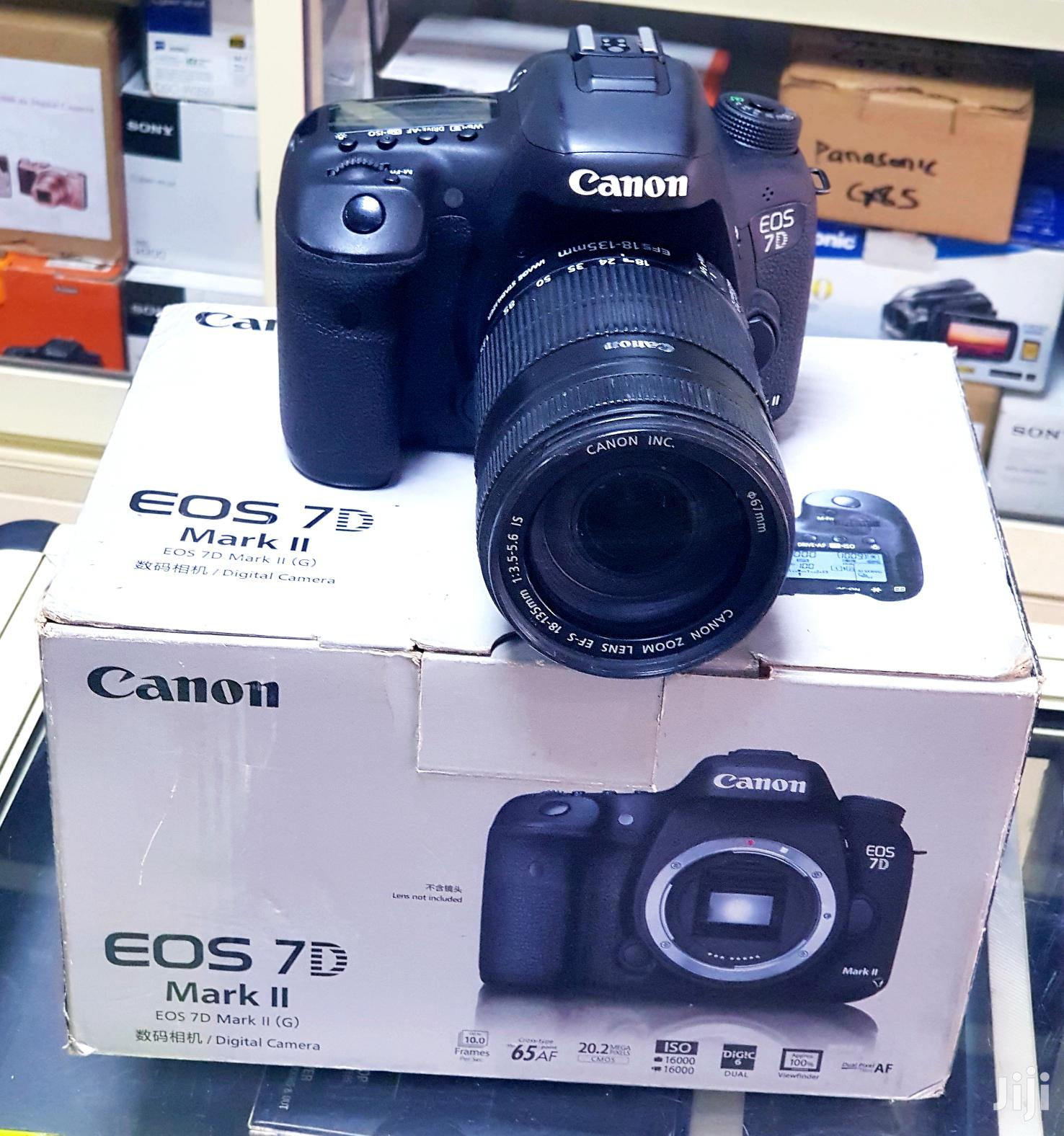 Canon DSLR Camera EOS 7D Mark II With 18-135mm Lens | Photo & Video Cameras for sale in Ikeja, Lagos State, Nigeria