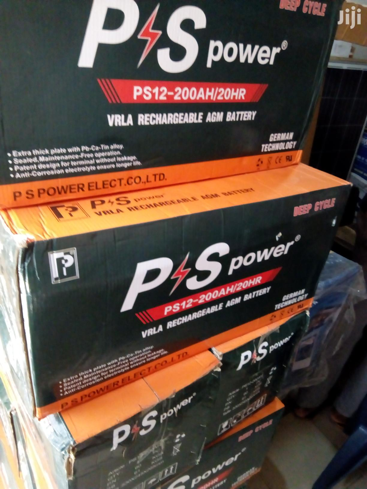 200ah 12v PS Power Solar Battery Available With 1yr Warranty