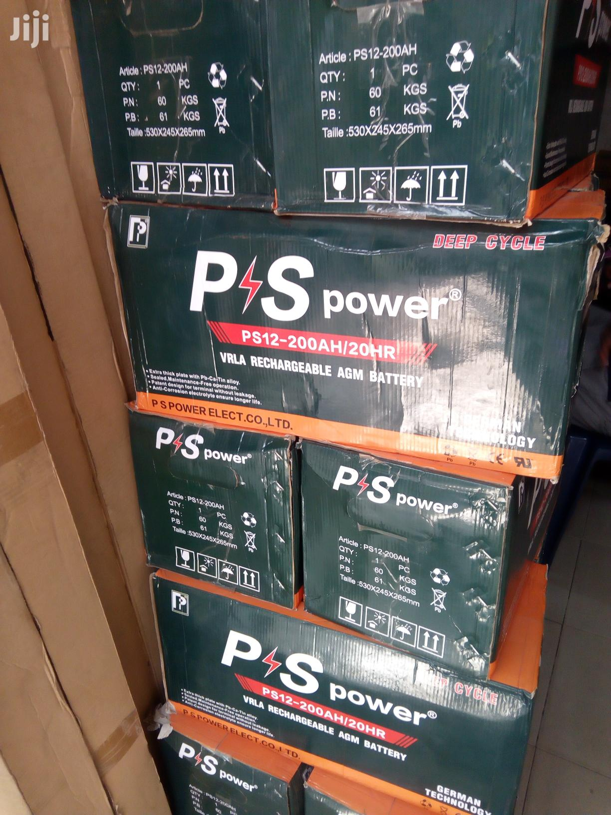 200ah 12v PS Power Solar Battery Available With 1yr Warranty | Solar Energy for sale in Ojo, Lagos State, Nigeria