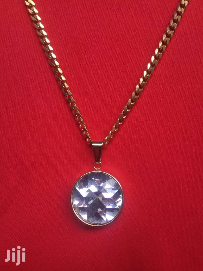 Gold Necklace With Fancy Diamond Pendant