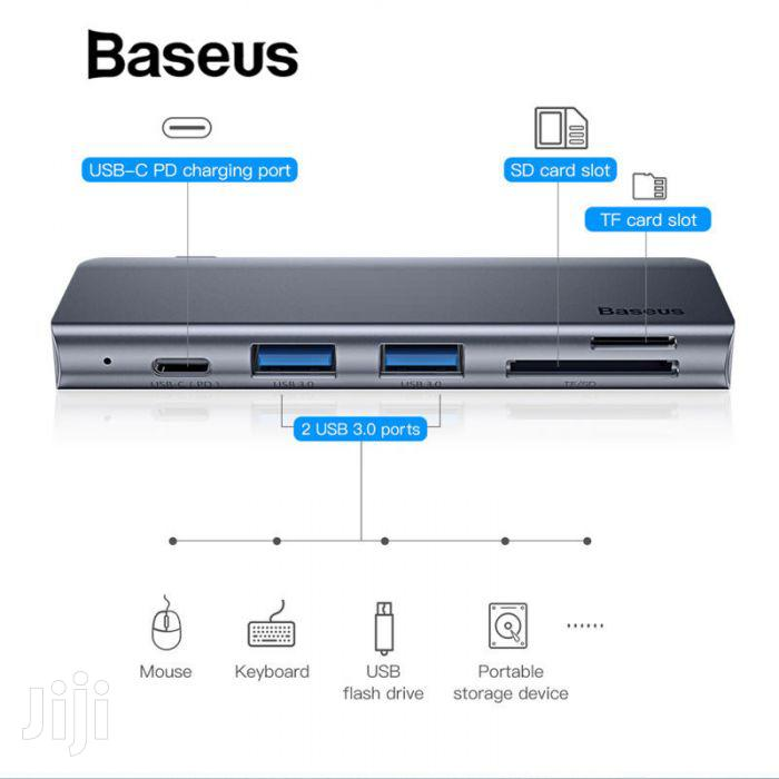 Baseus Harmonica 5in1 Hub Adapter | Computer Accessories  for sale in Ikeja, Lagos State, Nigeria