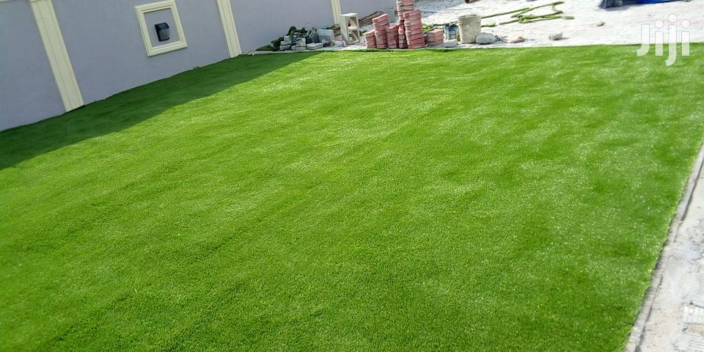 Landscape Design With Turf/Grass In Lagos Ikeja Nigeria