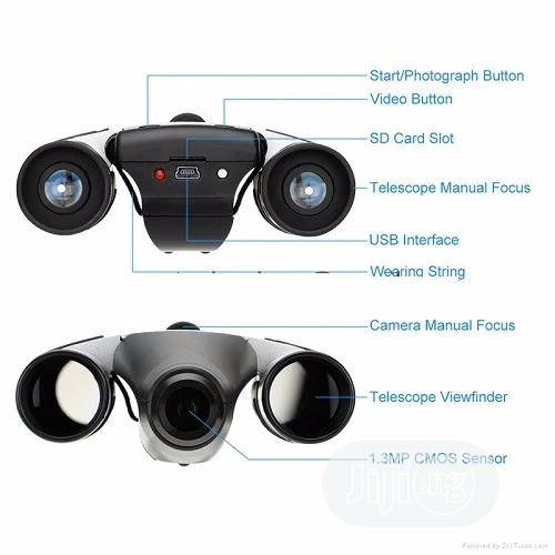 Digital Camera With Video Recording Binoculars - 10x25