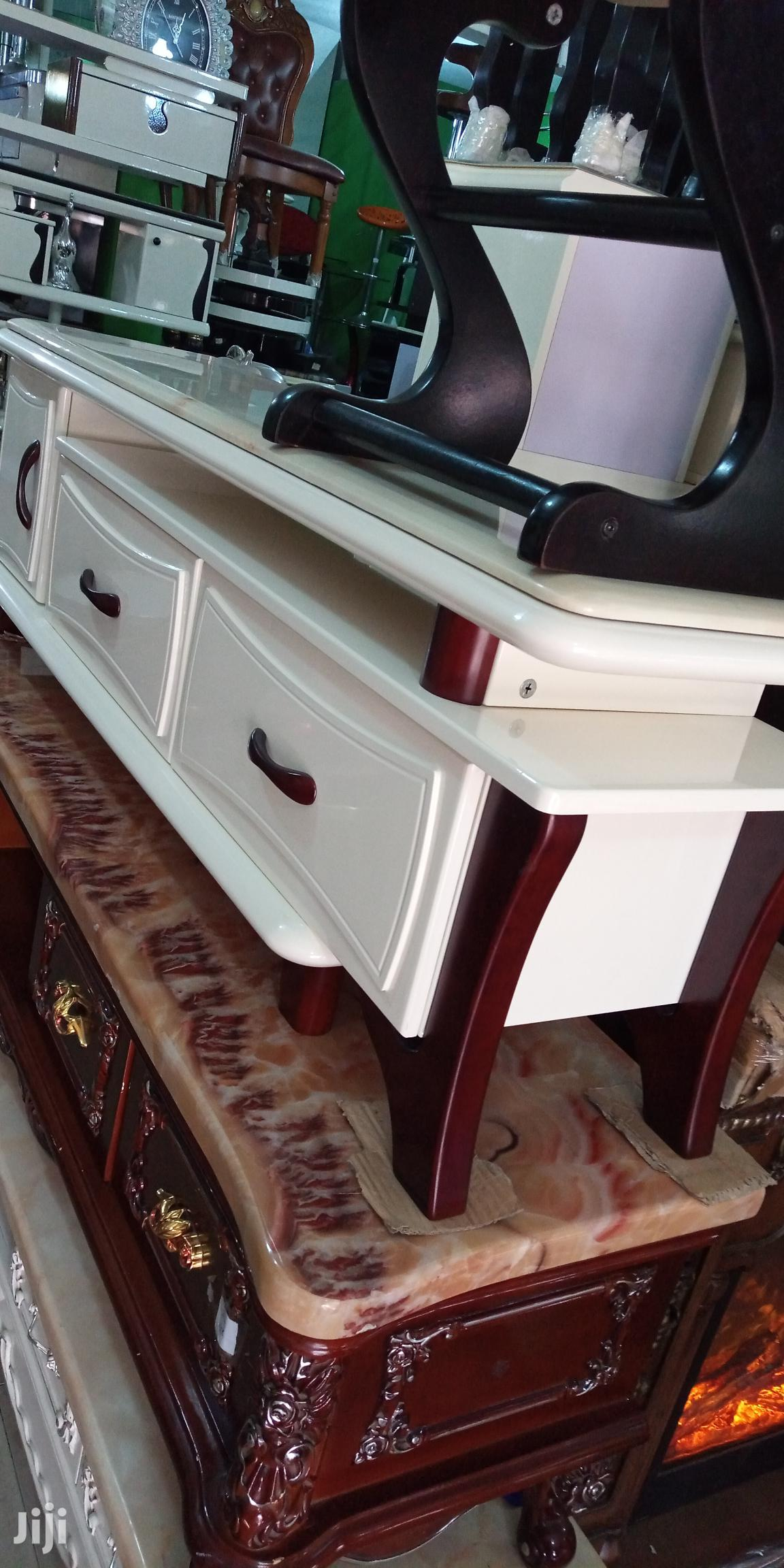 Imported Executive Marble Top Tvstand