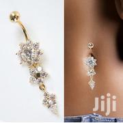 Beauty Navel Belly Button Rings Crystal Flower Dangle Jewelry | Jewelry for sale in Lagos State