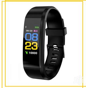 Smart Watch 115 Heart Rate Blood Pressure Fitness for Android iPhone | Smart Watches & Trackers for sale in Lagos State, Ikeja