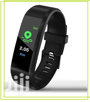 115 Smart Bracelet Tracker Heart Rate Monitor Sports Fitness   Smart Watches & Trackers for sale in Lagos State, Ikeja