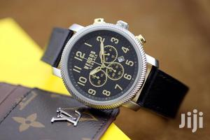 Versace Chronograph Silver Leather Strap Watch   Watches for sale in Lagos State, Lagos Island (Eko)