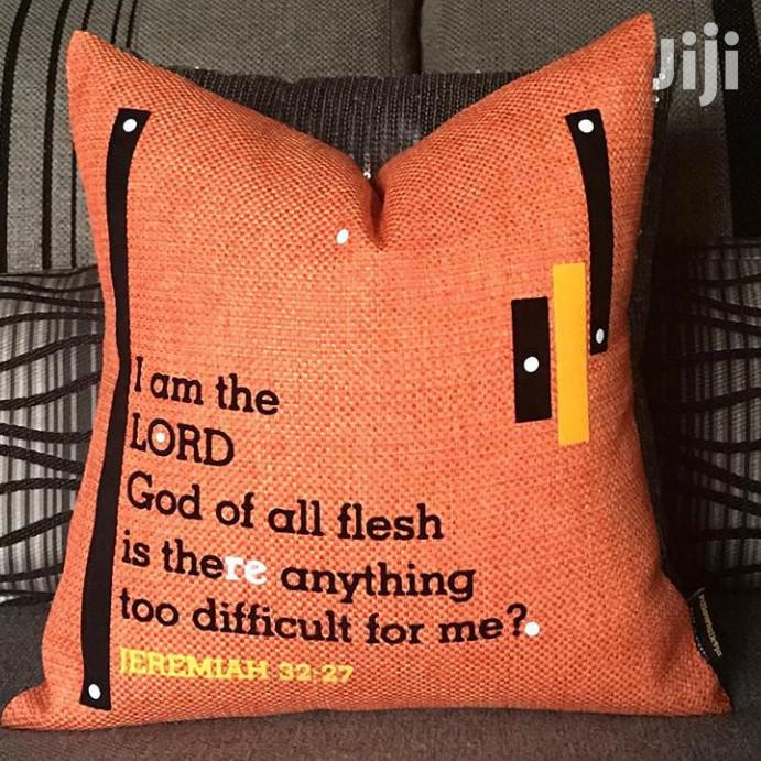Scripture Inspirational Pillows | Manufacturing Services for sale in Amuwo-Odofin, Lagos State, Nigeria