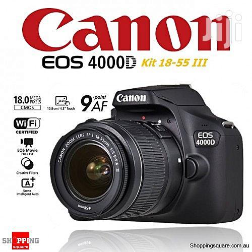 Archive: Canon EOS 4000D 18 MP DSLR Camera + Bag