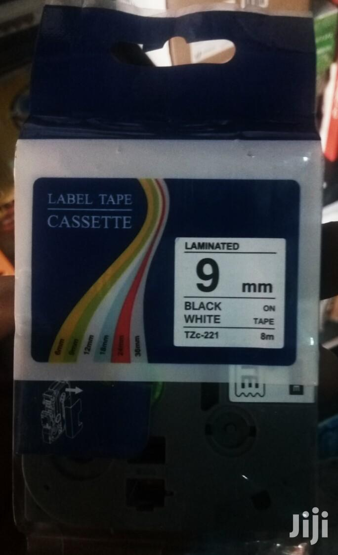 Brother Labelling Tape TZE-621 Yellow/Black 9 Mm