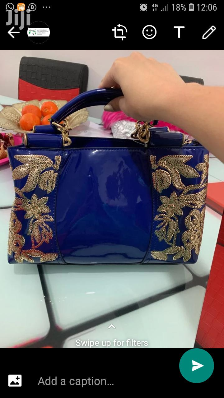 Cute Large Capacity Patent Leather Bag