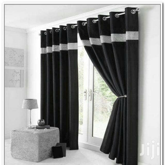 Blackout Curtain Black Living Room