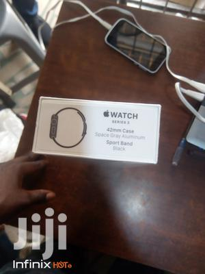 Iwatch SERIES 3. 42mm Case Space Gray Aluminum Sport Band(Black   Smart Watches & Trackers for sale in Lagos State, Ikeja